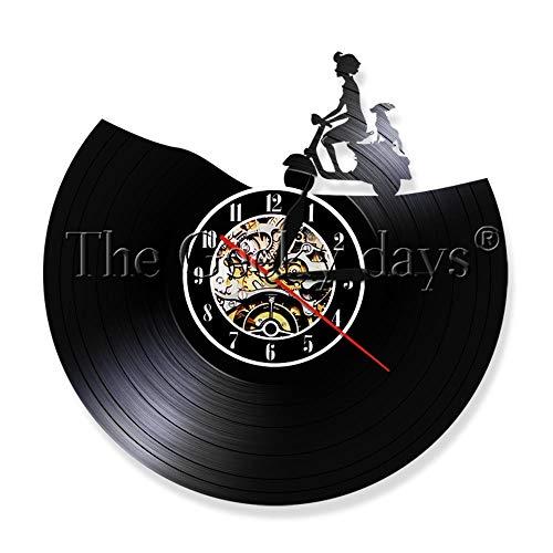 1 stück roller wanduhr vinyl LP rekordzeit uhr LED zeit uhr vintage uhr motorrad liebhaber geschenk