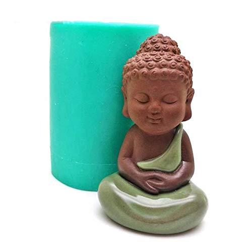 FENCHUN Molde de Silicona 3D Moldes de Vela Estatua Hecha a Mano Molde de Porcelana Hornear Herramientas Decorativas (Color : 527)