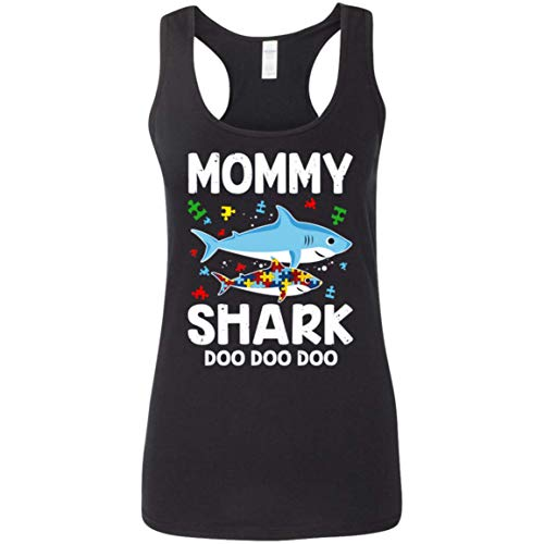 Autism Awareness Womens Tank Family Mommy Shark Doo Doo Doo...