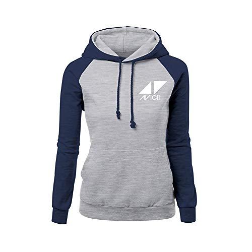 HEAIMONLA DJ Avicii Pullover Herbst-Winter-beiläufiges Vogue-Normallackdruck-Mode-Hoodies-Sweatshirt Unisex (Color : Grey01, Size : S)