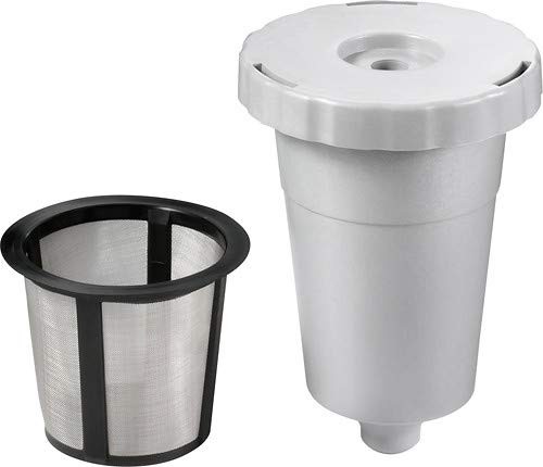 Reusable Coffee Holder and Filter Set, Grey 3 Part With Filter Basket Works With Keurig My K-Cup Home Brewers