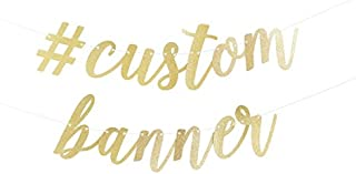 Custom Script Party Banner available in either gold or silver