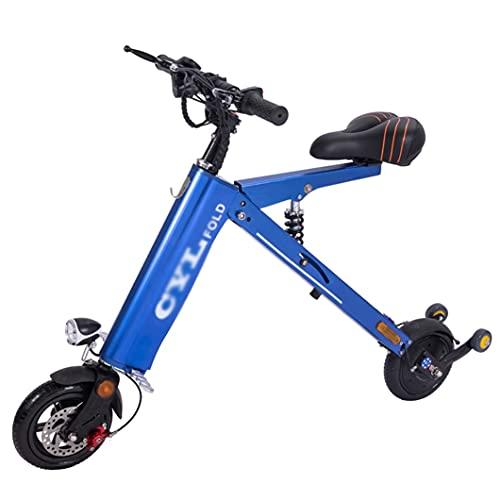 ZXQZ Vespa Eléctrica Plegable, Coche Eléctrico hasta 30-35 Km de Largo Alcance, E-Scooter para Adultos para Viajeros (Color : Blue)