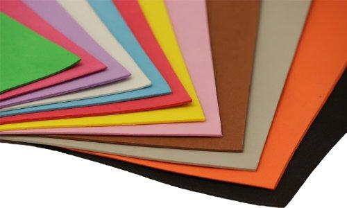 Unbekannt 10 B. Moosgummi farbig sort. 30 x 40 cm