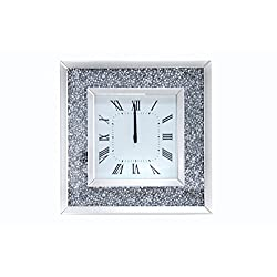 Acme Furniture Nora 97395 Noralie Wall Clock, Mirrored