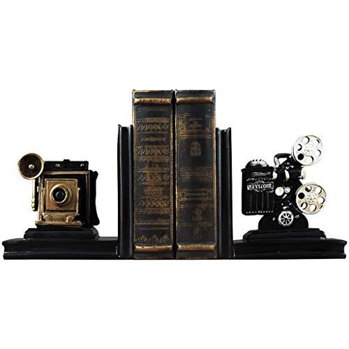 XCJJ Proyector de cine Sujetalibros Libro de la Oficina Escritorio de estudio Escritorio Estantería Decoración Adornos 16X12X20.5Cm Estantería