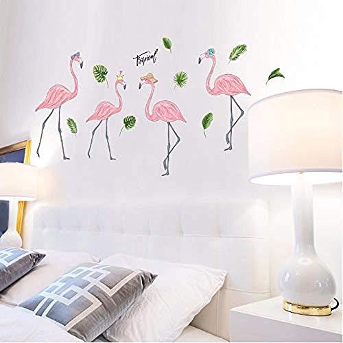 Fotobehang-Flamingo familie woonkamer slaapkamer DIY behang 60x90cm