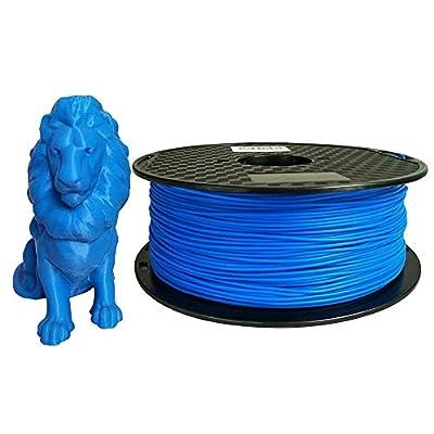 PLA MAX Blue PLA Filament 1.75mm 3D Printing Filament Weight 1KG Printer Filament Diameter 1.75mm Spool 3D Printing Materials PLA MAX Strength Than PLA PRO(PLA+) Plus Filament CC3D
