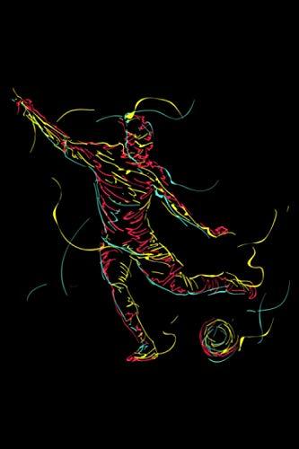 Abstrakte Kunst Fussball Torwart Liebhaber Fußballtrainer: DIN A5 Blanko 120 Seiten / 60 Blätter Notizbuch Notizheft Notiz-Block Lustige Fußball Fußballspieler Stürmer Geschenke