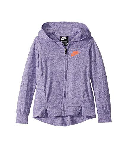 Nike Kids Girl's A-Line Full Zip Hoodie (Little Kids) Lavender Mist 6X Little Kids