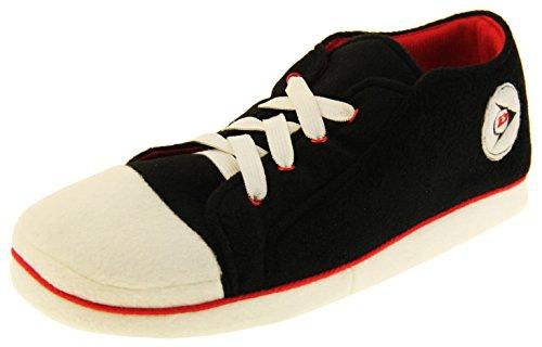 pantofole uomo nerd Dunlop Sneaker Unisex – Adulto Uomo Sneaker Sportivo Scarpe Pantofole Nero EU 46-47 (XL)