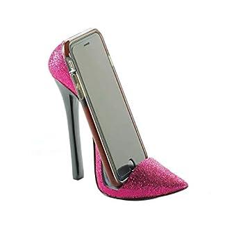 Pink Shoe Phone Holder 5.75x2.5x5.37