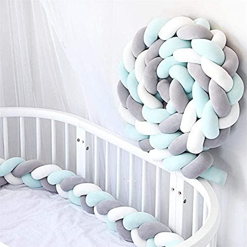 FUNBY Borde de cama para bebé, trenzado, protector de bordes para cuna, 2 m