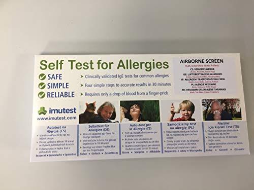 Allergietest für Katze, Hausstaubmilbe, Graspollen -Allergie 1 Test