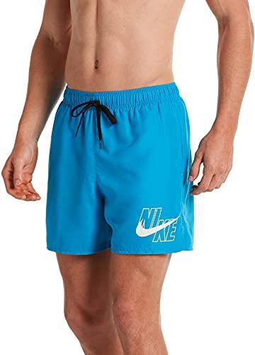 Nike Volley - Costume da Bagno da Uomo, Uomo, Costume da Bagno, NESSA566-406, Blu Laser, S