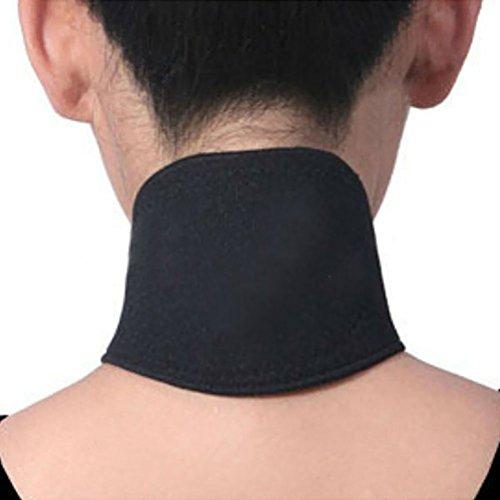 PIXNOR Terapia magnetica termico auto-riscaldante collo Pad cintura (nero)