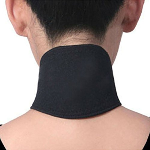 Pixnor Magnetic Tourmaline Thermal Self-Heating Neck Pad Neck Support Brace Protector