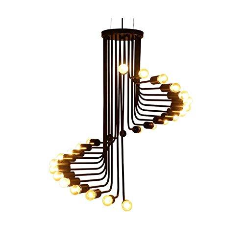 Massoser kroonluchter-zwart metaal staal kunst eetkamer plush Mount industriële hanglamp kroonluchter plafondlamp met 26 lampen gelakt huishoudverlichting