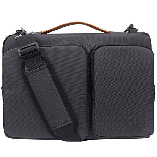 Lanola Laptop Sleeve Bag with Notebook Computer,Vertical Protective Case black Size: 15.6 Inch Laptop