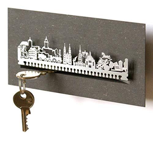 13gramm Nürnberg-Skyline Schlüsselbrett Souvenir in der Geschenk-Box