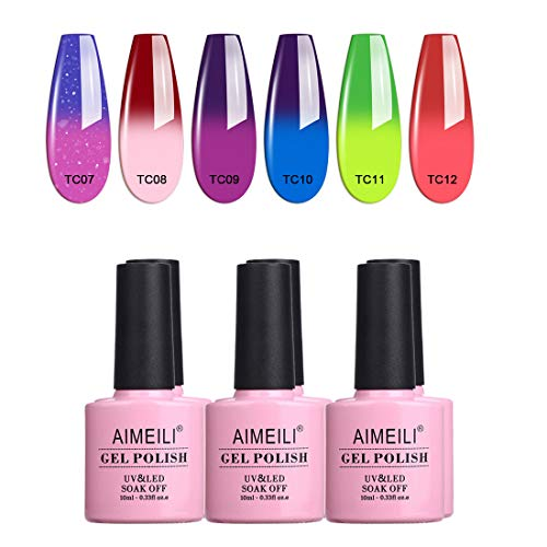 AIMEILI Esmalte Semipermanente Para Uñas Soak Off UV LED Uñas De Gel Color Combinado/Color De La Mezcla/Multicolur Set 6 X 10ml - Set 15