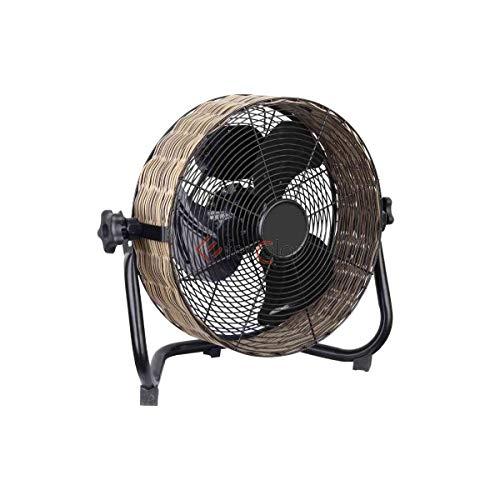 Cfg Ventilatore Terra Parete, Vintage Vimini, 40W, 3 Velocità, 55 db, Diametro 30, EV013