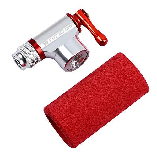 YANZHU Inflador de Co2 Pro Bike Tool - Rápido Y Fácil - Compatible con Válvulas Presta Y Schrader Bomba de Neumáticos de Bicicleta para Bicicletas de Carretera Y Montaña (Excluyendo