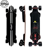 Teamgee H20 39' Electric Skateboard,26 Mph / 42Kph Top Speed,540W Dual Motor, 25-30KM Range, Max Load 286 Lbs, 8 Ply Canadian Maple and 1 Ply Fiberglass (H20) (H-20)