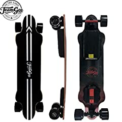 [Exquisite structure] 8 ply Canadian maple and 1 ply fiberglass will provide you a super stable high-speed platform for riders. Its net weight 9.5KG ,size is 940 * 230 * 15mm, and bearing weight doesn't exceed 130KG. [Wireless remote control] With wi...