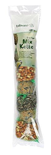 Erdtmanns Chaîne de Nourriture 4 Boules de Graisse/2 Sachets de Cacahuètes/2 Sachets de Graines de Tournesols pour Oiseaux