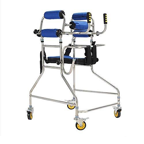 Fhxr Walker voor ouderen Volwassen onderste ledematen revalidatie training voor kinderen Roestvrij stalen standaard Stroke hemiplegia training