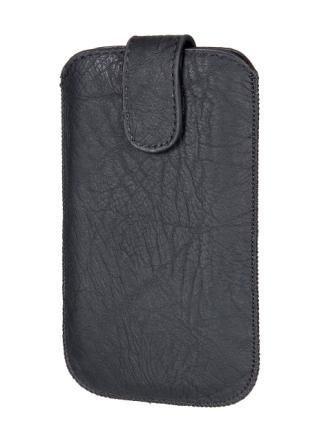 Handytasche Lines schwarz geeignet für Doro Primo 365 Handy Schutz Hülle Slim Case Cover Etui schwarz mit Magnetverschluss