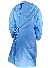 JIekyoi Ropa de protectora unisex, reutilizable Antivaho A prueba de polvo Monos manga Larga-S M L XL