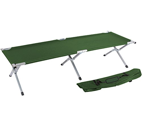 """75"""" Portable Folding Camping Bed and Cot By Trademark Innovations (Army Green)"""