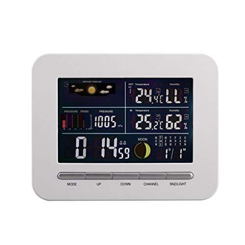 XF-B Pronóstico Digital Inalámbrico Estación Meteorológica Reloj Sensor Remoto Temperatura Interior Y Exterior Monitor De Humedad Reloj Despertador
