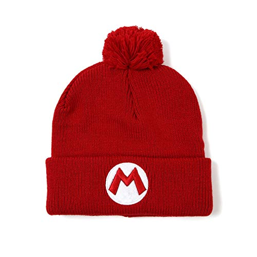 Super Mario Bros Mario Red Knit Hat Beanie