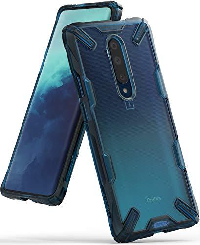 Ringke Fusion-X Gestaltet für OnePlus 7T Pro Hülle, Transparent Renovierter TPU Rahmen Bumper Doppelter Schutz Hülle für OnePlus 7T Pro (2019) - Space Blue