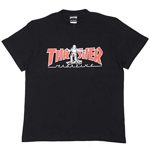 スラッシャー THRASHER GONZ HOMETOWN TEE(BLACK/RED) (L)