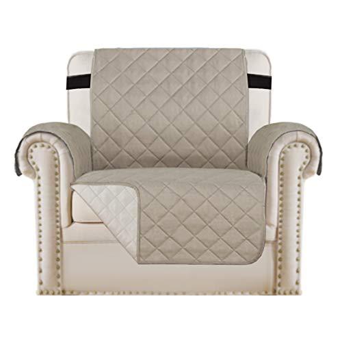 Wendbarer Stuhlbezug/Schonbezug für Sessel/Stuhlschutz, Mit 2'verstellbarem Riemen an Ort und Stelle bleiben, Möbelschutz vor Hunden, Haustieren, Verschütten, Abnutzung und Riss