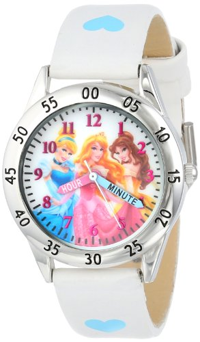 of disney watch bands dec 2021 theres one clear winner Disney Kids' PN1172 Princess Watch with White Band
