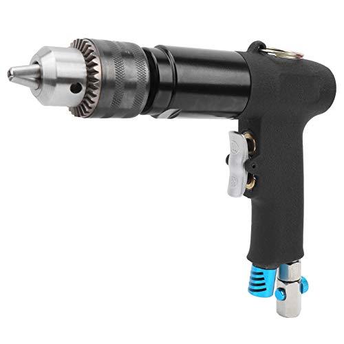 YC-1091 Pneumatischer Luftbohrer, Pistolenbohrmaschine mit Schraubenschlüssel Düsengriff und legierungsgehärtetem Untersetzungsgetriebe für Möbel, Maschinenproduktion, Wartung(American gas nozzle)