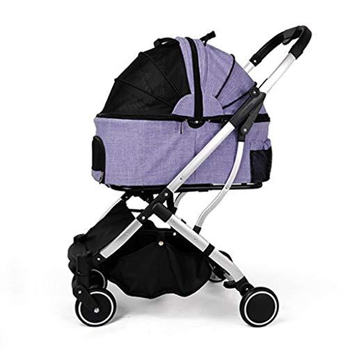 BTIR baby-hond strollerFolding huisdier kinderwagen/kat blauw transportbedrijf kruiwagen, Paars