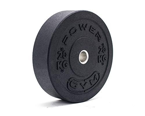 """Powergym Olympic 2"""" Rubber Crumb Bumper Weight Plates - Fitness Gym Fit Weight Cross lifting deadlifts - Made from 100% recycled rubber Environmentally friendly - European Manufactured (20kg (pair))"""