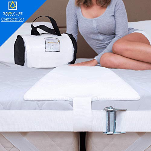 Savvy Life Selects Bed Bridge Connector (Ultra Wide) 12 Inch Non-Slip Design   Adjustable Mattress Connector   Twin To King Converter Kit   25D Memory Foam Mattress Extender   Storage Bag Included