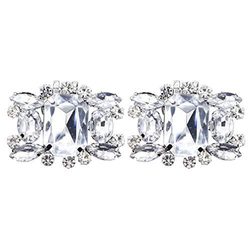 Amosfun 2 clips de cristal para zapatos acrílicos con encanto para bodas,...