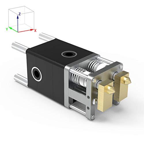 Mingtongli 3D-Drucker Dual-Extruder Düsenkopf 0.4mm Düse 3D Druckmaschine Zubehör für Ultimaker 2