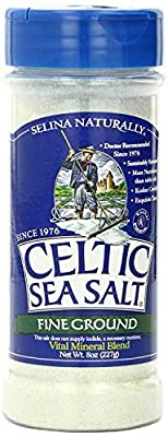 Celtic Sea Salt®, Fine Ground, By The Grain & Salt Society, 8 oz. Shaker by Celtic Sea Salt