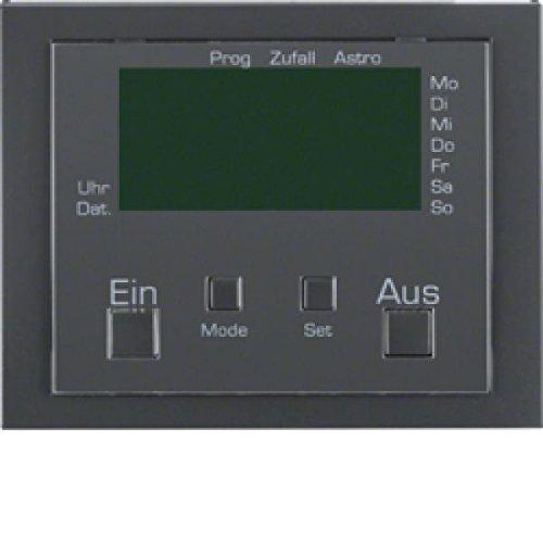 Hager K1 – timer met displaymodule verbinding antraciet