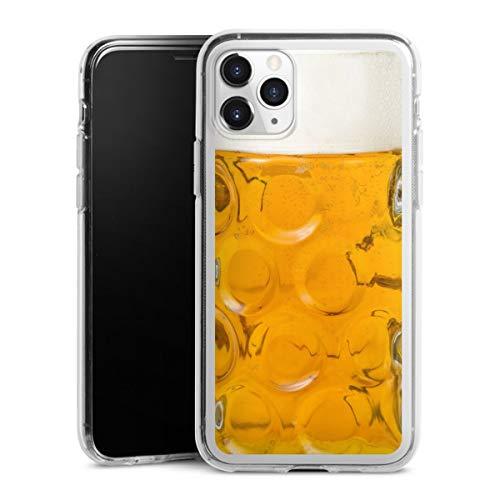 DeinDesign Silikon Hülle kompatibel mit Apple iPhone 11 Pro Hülle transparent Handyhülle Bier Glas Oktoberfest