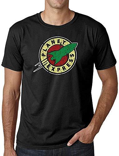 mingming Futurama Mens T-Shirt Planet Express Adults ShirtBlackS